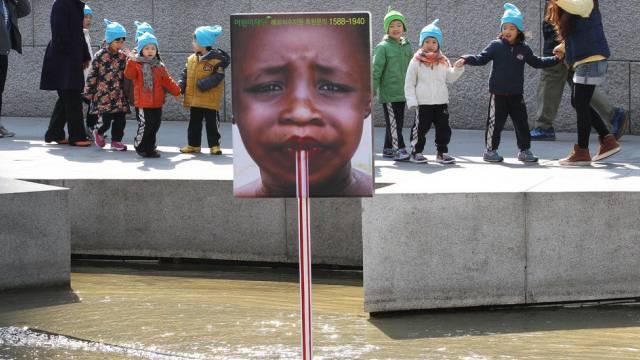 Eine Installation in Südkorea zum Weltwassertag