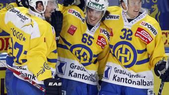 Joggi, Marc Wieser und Untersander (v.l.) feiern Kantersieg