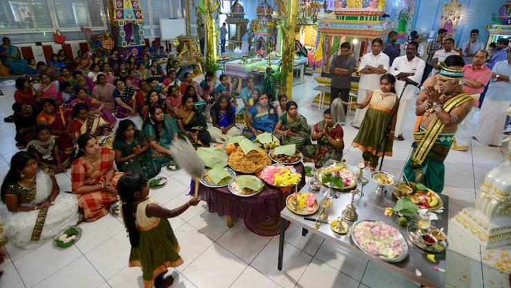 Im Hindu-Tempel an der Brühlstrasse in Grenchen war bis gestern ein grosses Fest für die Tempelgöttin im Gange.