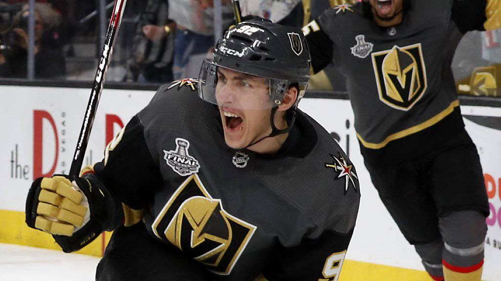 Matchwinner der Vegas Golden Knights im ersten NHL-Finalspiel gegen die Washington Capitals: der tschechische Flügel Tomas Nosek