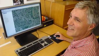 Stefan Grüter zieht häufig Luftaufnahmen bei, wenn er Baugesuche bearbeitet.