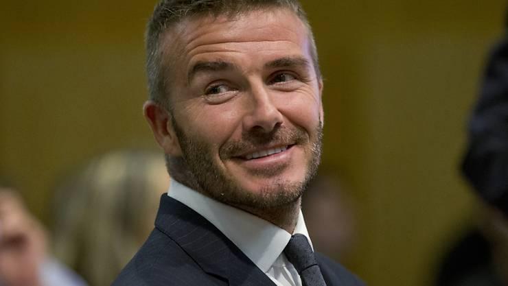 David Beckham will laut einem Interview seinen Kindern mit harter Arbeit vorleben, wie man erfolgreich sein könne. (Archivbild)