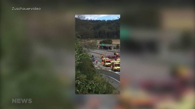 Schwerer Unfall auf A1 zwischen Zürich Richtung Bern