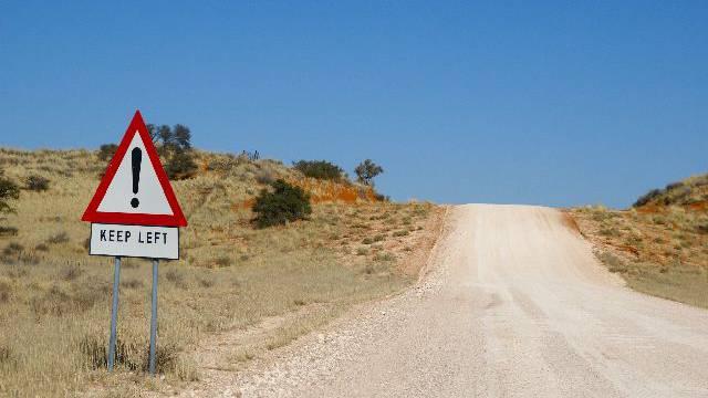 Schlechte Sicht auf Namibias Strassen (Bild: Nicole Annette Müller)