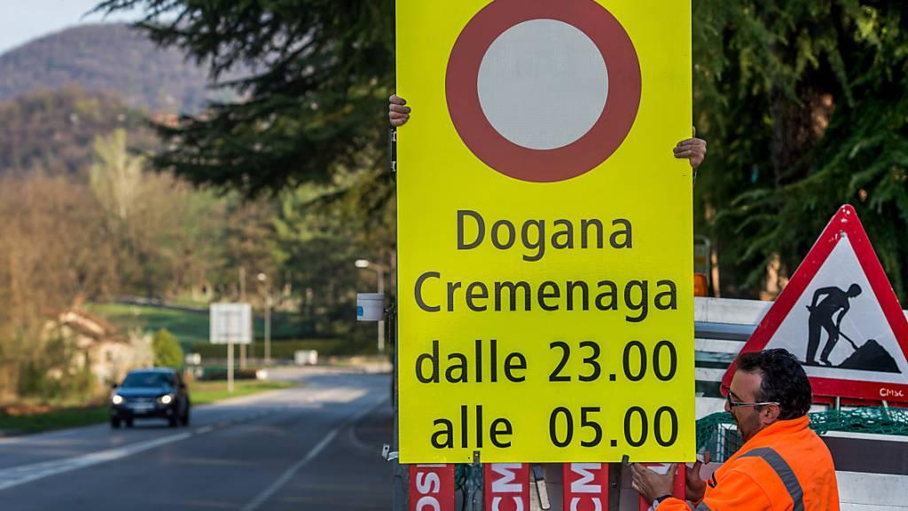 Tessiner Regierung fordert Schliessung kleiner Grenzübergänge