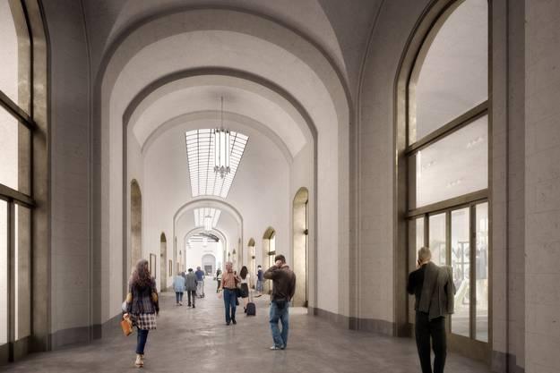 So soll die Passage zwischen französischem Bahnhof und Schweizer Bahnhof SBB aussehen.
