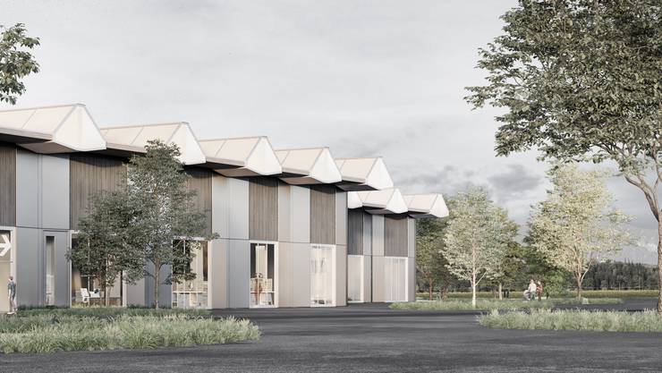 Die Fassade des Depotgebäudes besteht aus Holz, Glas und Blech. Massvoll gesetzte Glasöffnungen bilden einen Blickbezug nach aussen.