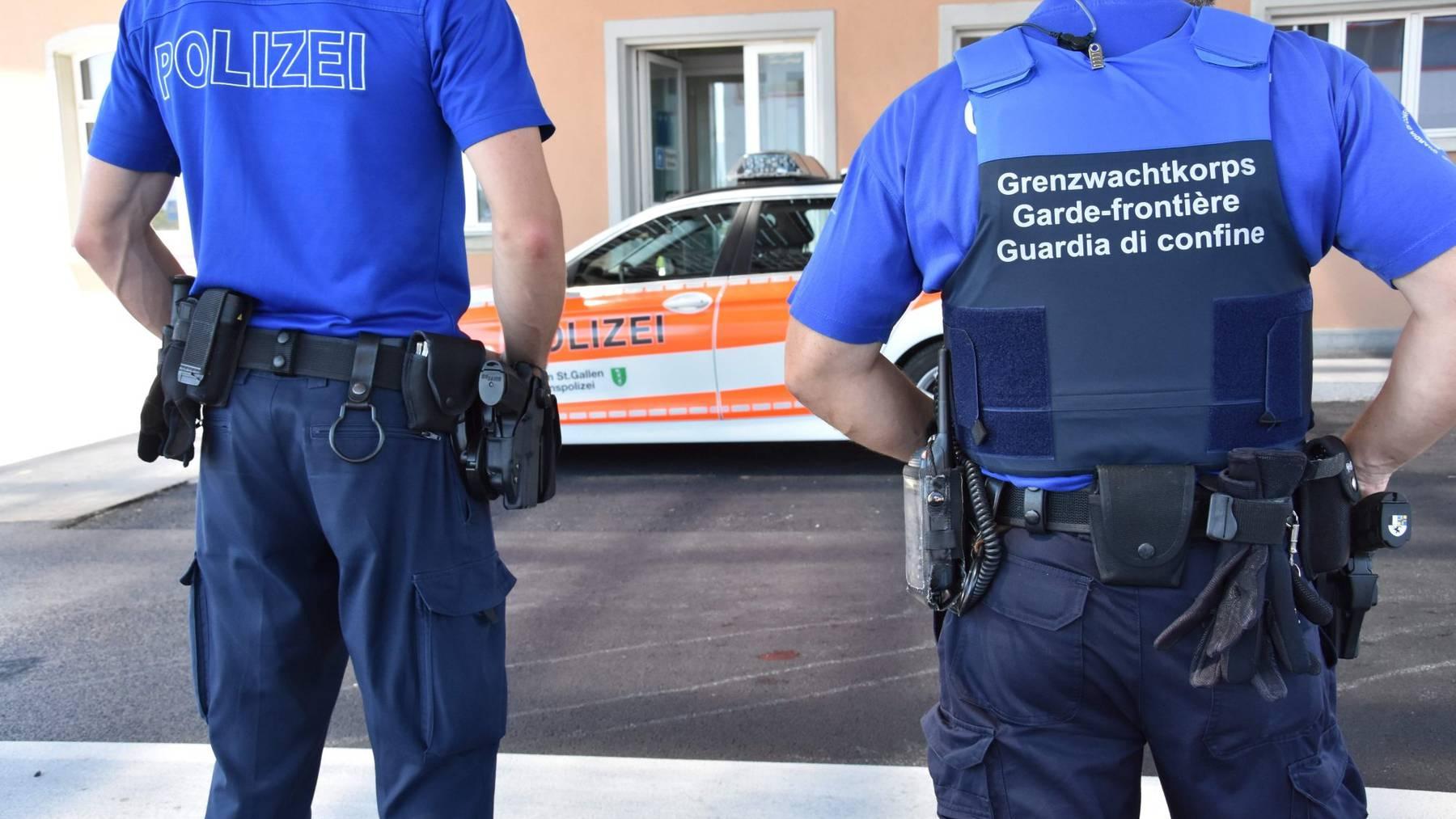 Die Polizei und das Grenzwachtkorps konnten den Mann fassen.