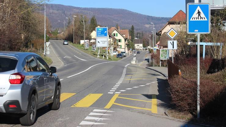 Seit der Eröffnung des Staffeleggzubringers ist die Neue Stockstrasse (links) nicht mehr die Hauptachse. Diese liegt nun auf der Bibersteinerstrasse (geradeaus).