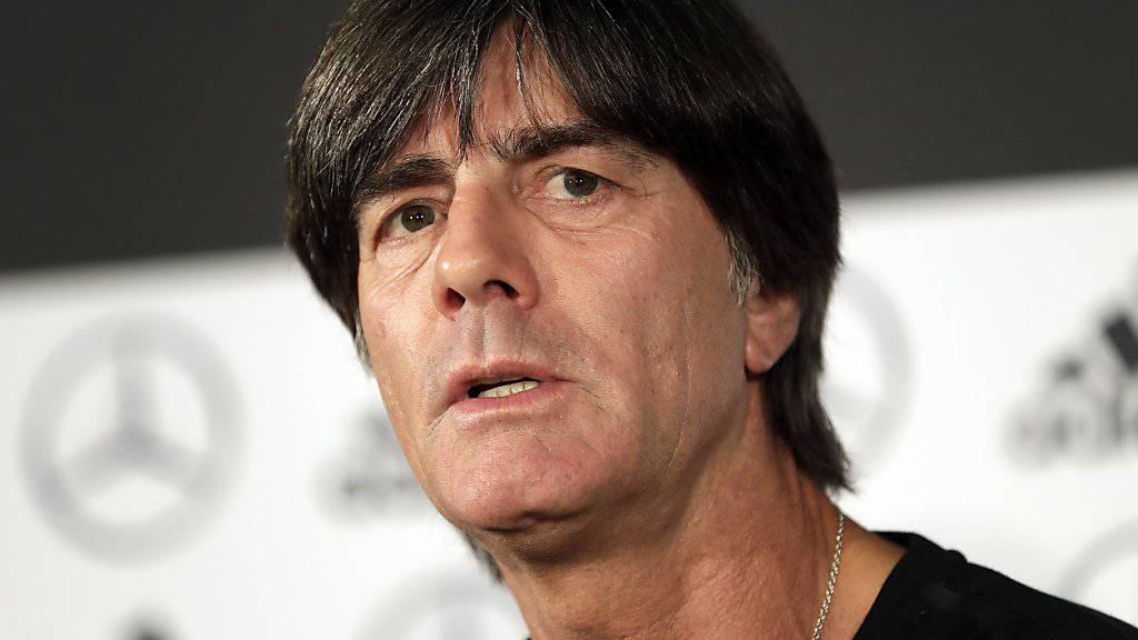 Bundestrainer Joachim Löw ist derzeit nicht in der Lage, die deutsche Nationalmannschaft in den beiden EM-Qualifikationsspielen gegen Weissrussland (8. Juni) und Estland (11. Juni) zu betreuen