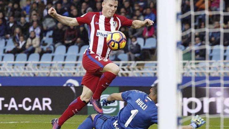 Kein Durchkommen für Atletico in San Sebastian (hier Stürmer Kevin Gameiro)