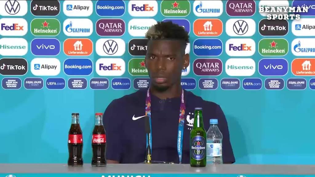 UEFA droht Spielern mit Geldstrafe, wenn sie Werbeflaschen entfernen