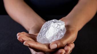 Einfach zu teuer, fanden die Auktionsteilnehmer in London. Der grösste Rohdiamant der Welt blieb bei Sotheby's liegen.