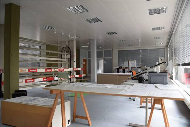 Ein Blick in das Atelier im ersten Stock des alten Teppichladens Tattarletti.