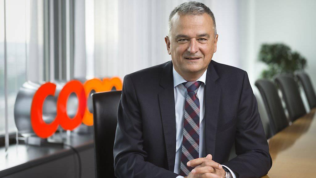 Coop-Chef Joos Sutter kann sich freuen: Erstmals hat der Grossverteiler 2018 die Marke von 30 Milliarden Umsatz geknackt. (Archiv)