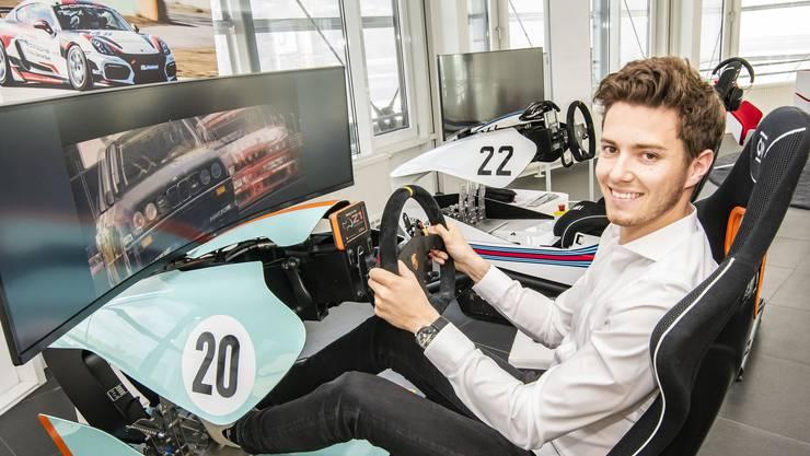 Interview mit Rennfahrer Jeffrey Schmid für eine Basler Regiosport-Story