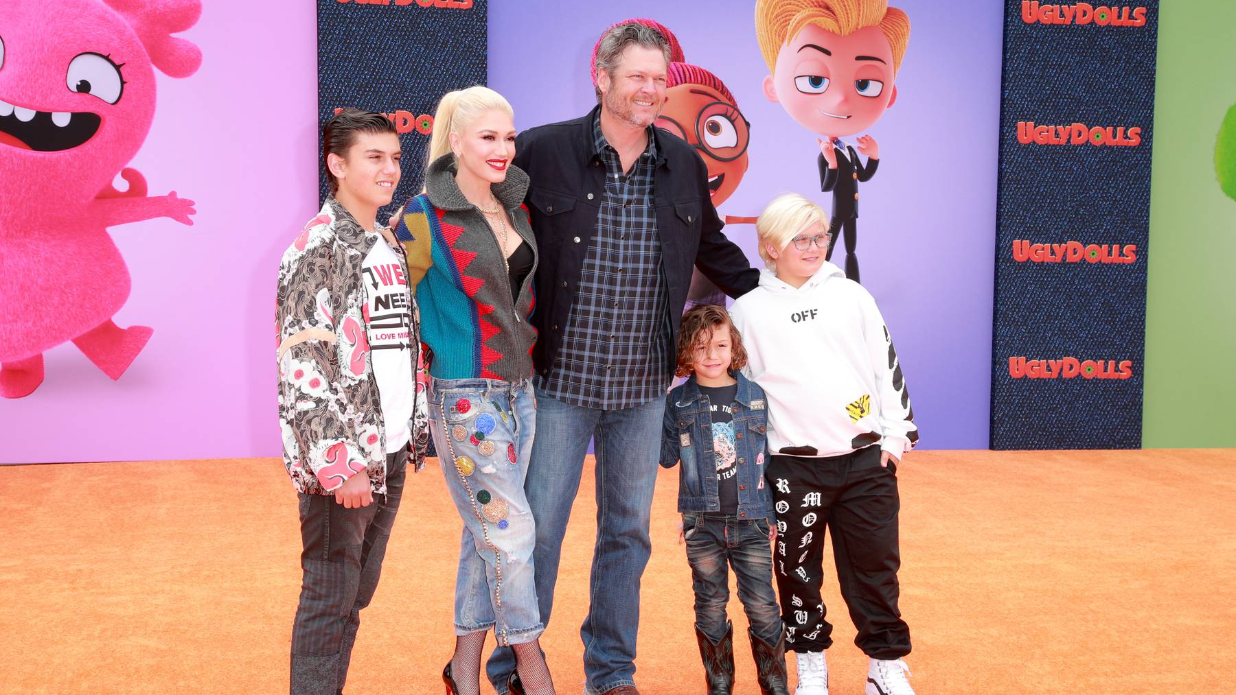 Gwen Stefani mit Familie