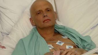 Litwinenko kurz vor seinem Tod