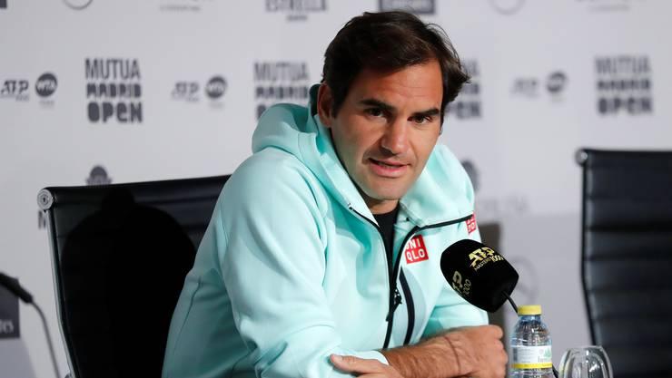 Roger Federer spielt kommende Woche in Madrid.