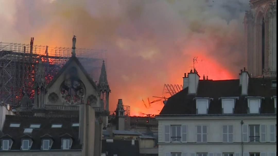 15. April 2019: Ein Feuer verwüstet die Pariser Notre-Dame