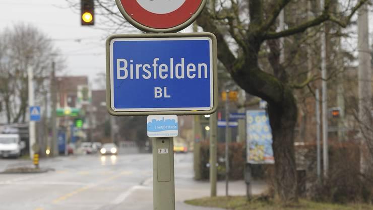 Ortsschild Birsfelden