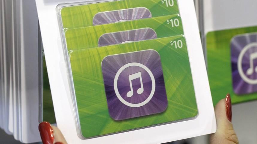 Der Betrüger forderte die Frau unter anderem auf, iTunes-Karten im Wert von 1000 Euro zu kaufen. (Symbolbild)