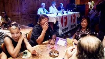 Isoliert: Die Raucherfreunde des Vereins Fümoar an ihrer Generalversammlung im August 2013.