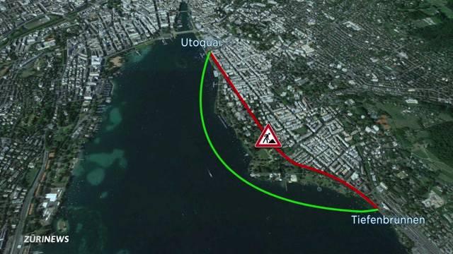 Keine Chance für temporäre Autobrücke im See beim Utoquai