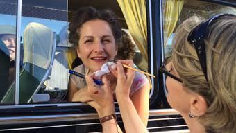 Nancy Holten am Set von «Papa Moll»
