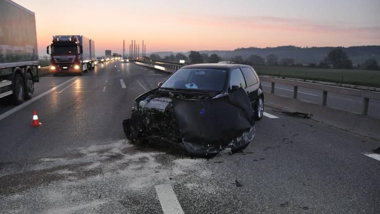 Verkehrsunfall auf A5 in Grenchen.