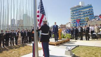 Erstmals seit 1961 weht Flagge vor US-Botschaft in Havanna