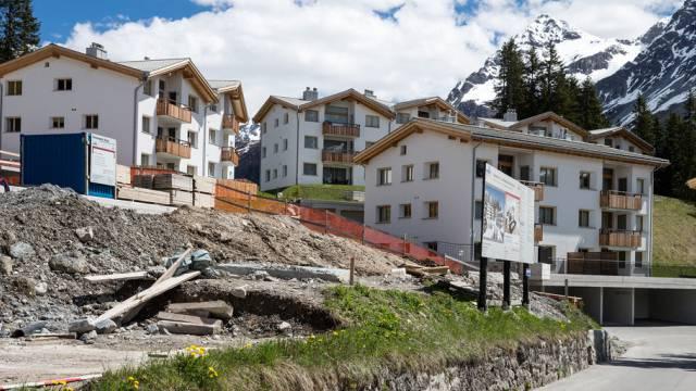 Bau von Zweitwohnungen in Arosa