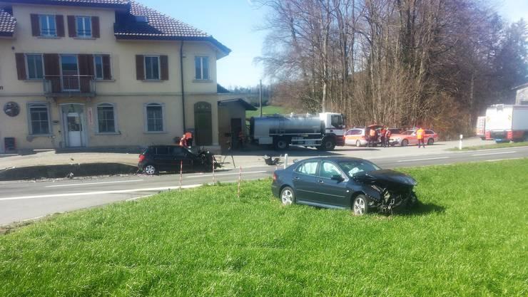 Zwischen Menziken und Beromünster kam es zu einer Kollision zwischen zwei Fahrzeugen.