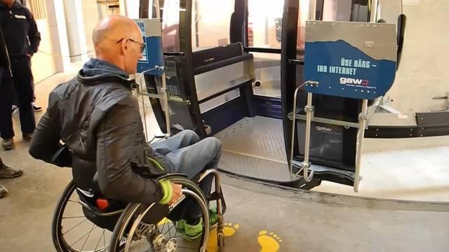 Rollstuhlfahrer Heinz Frei erkundet den Weissenstein. Wie gut kommt er auf den Berg?