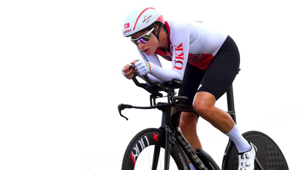 Marlen Reusser kürt sich zum dritten Mal in Folge zur Schweizer Zeitfahr-Meisterin.