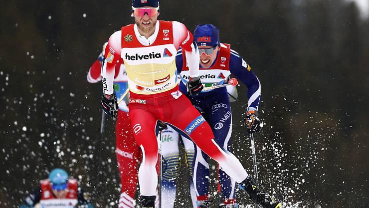 Im Männer-Langlauf derzeit nicht zu schlagen: Norwegens Staffel führt mit Martin Johnsrud Sundby das WM-Rennen an
