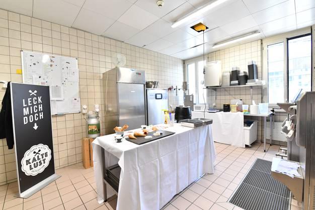 Produktionsfläche, derzeit noch in den Betriebsräumlichkeiten des Hotel Olten.
