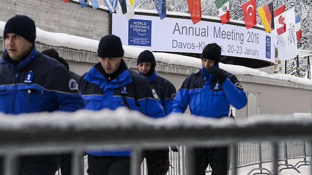 Sie hatten alles im Griff: Laut den Sicherheitsbehörden kam es am diesjährigen WEF zu keinen relevanten Zwischenfällen.