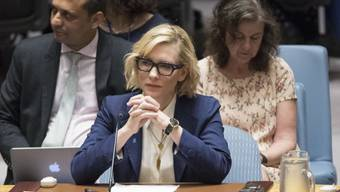 Hollywood-Star Cate Blanchett hat vor dem  Uno-Sicherheitsrat zu mehr Engagement für die Rohingya-Flüchtlinge in Bangladesch aufgerufen. (Foto: Mary Altaffer/AP)