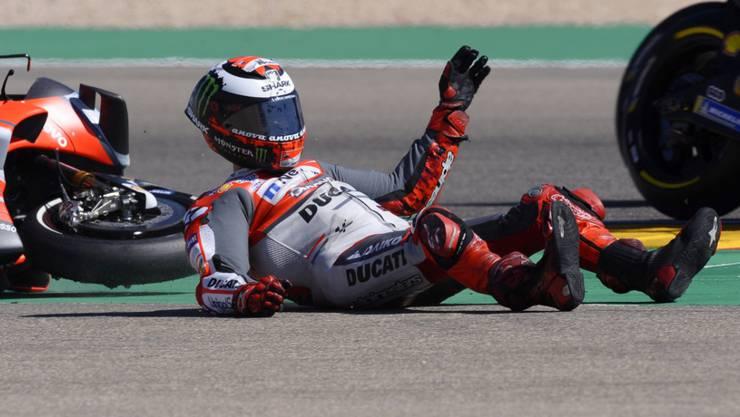 Jorge Lorenzo ist nach seinen zwei Stürzen in Aragon und Thailand nicht fit genug für den Grand Prix von Japan