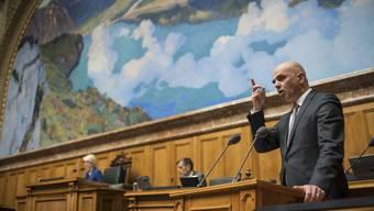 Appellierte an die Solidarität von allen: Bundesrat Alain Berset.