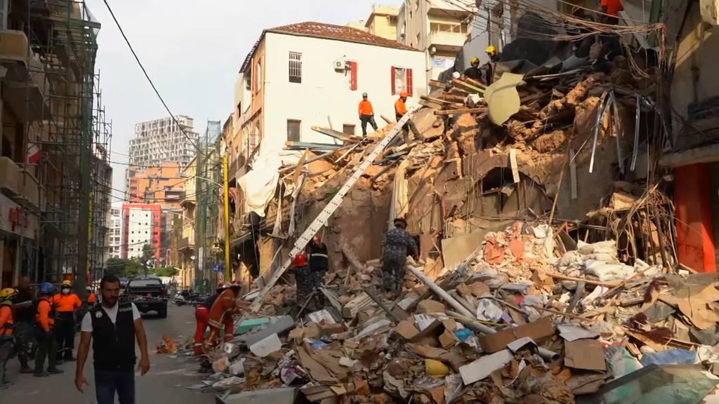 Beirut: Rettungsteam sucht nach möglichem Überlebenden