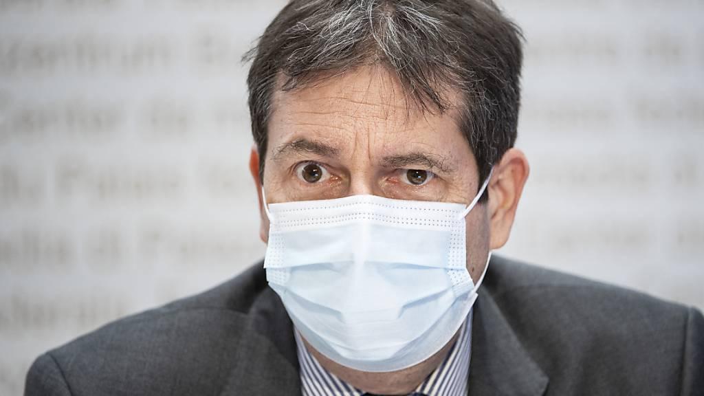 Blickt seit Beginn auf ein intensives Jahr im Zeichen des Coronavirus zurück: Bundesratssprecher und Vizekanzler André Simonazzi. (Archivbild)