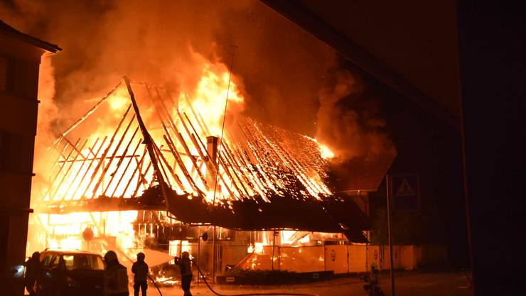 Brand eines leerstehenden Bauernhauses in Gerlafingen