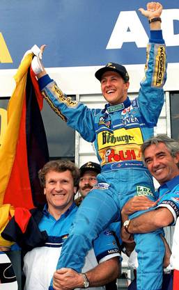 Er debütierte 1991 für Jordan beim Grossen Preis von Belgien. Zum nächsten Rennen wechselt er zum Rennstall von Benetton, dem er bis 1995 treu bleibt. 1992 gewinnt er seinen ersten Grand Prix (Spa in Belgien), 1994 und 1995 holt er seine ersten zwei Formel-1-Weltmeister-Titel.