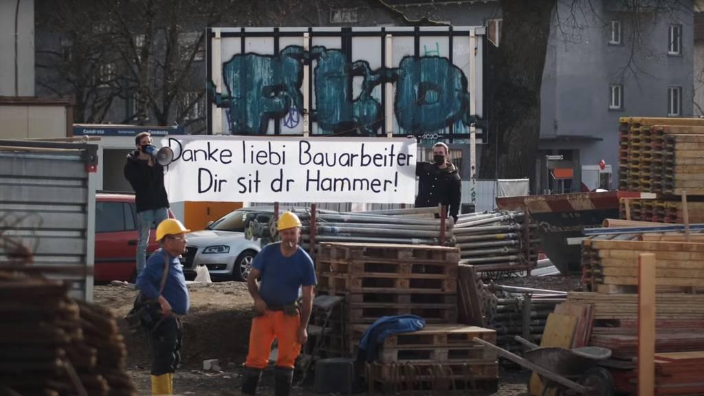 «Das esch ned wahr» - Bauarbeiter erhalten eine Überraschung