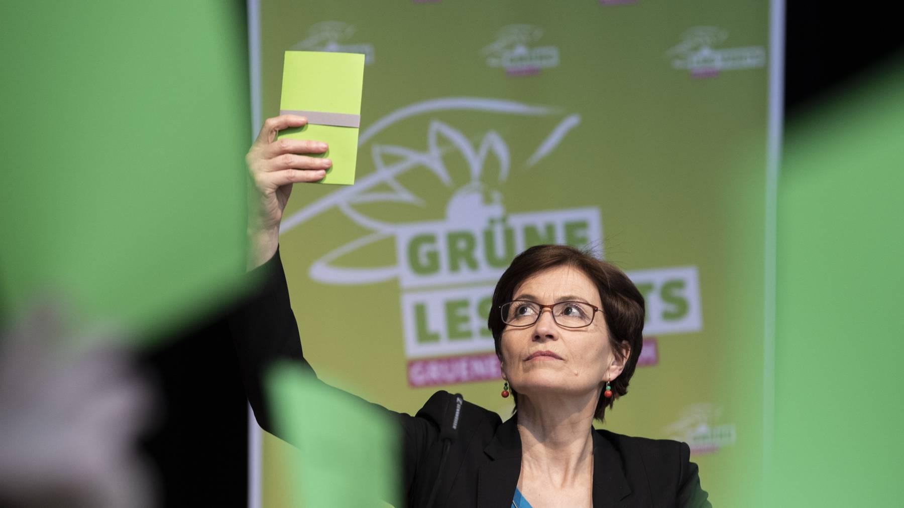 Grünen-Präsidentin Regula Rytz an der Delegiertenversammlung in Frauenfeld.