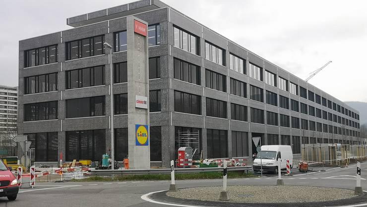 Das Geschäftshaus in der Telli in Aarau, in welches der Lidl einzieht.