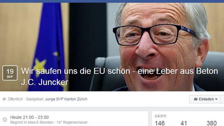 Aufruf der Zürcher JSVP auf Facebook.