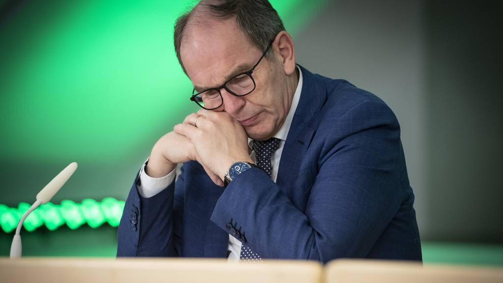 Der St.Galler Regierungspräsident Bruno Damann an einer Medienkonferenz am 15. Dezember 2020.